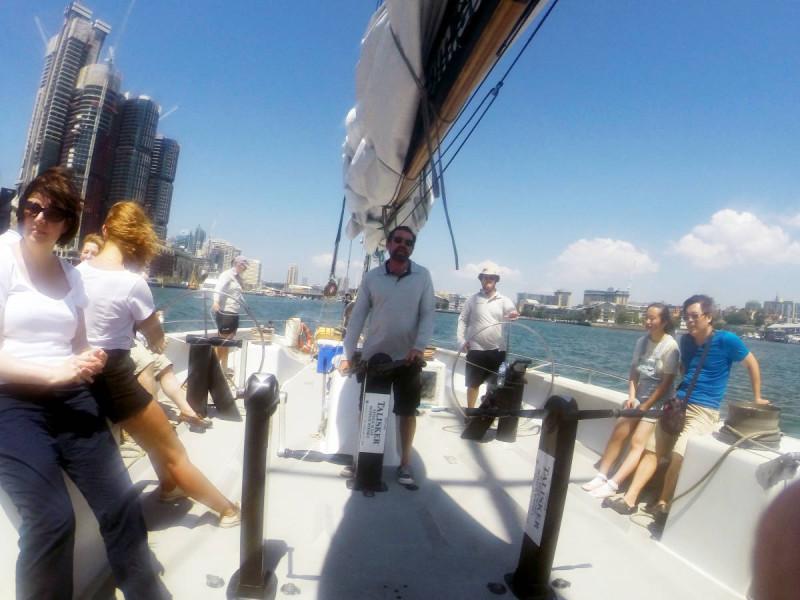 sailing sydney harbour americas cup crew
