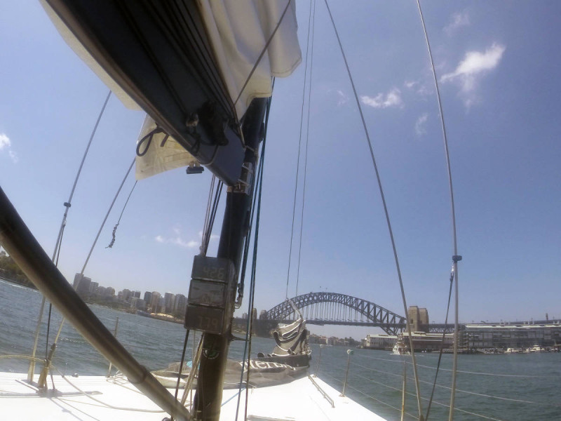 sailing sydney harbour americas cup harbour bridge